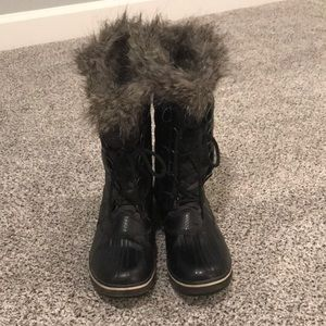 Black Joan of Arc Sorel boots